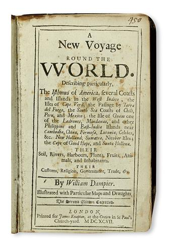 DAMPIER, WILLIAM. [Voyages.]  Vols. 1, 3, and 4 (of 4).  1697-1709