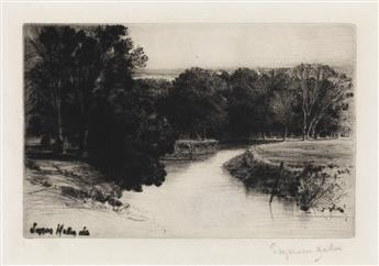 FRANCIS SEYMOUR HADEN Group of 4 etchings with drypoint.