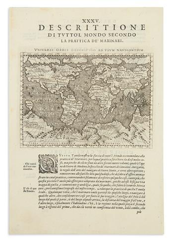 MAGINI, GIOVANNI. Universi Orbis Descriptio ad Usum Navigantium.