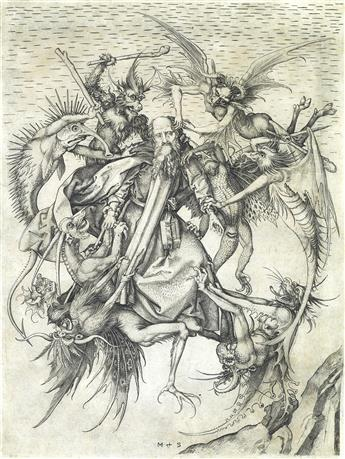 MARTIN SCHONGAUER The Tribulations of St. Anthony.