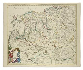 DE LISLE, JOSEPH NICOLAS. Ducatuum Estoniae et Livoniae Tabula cum Cursu Fluvii Dwinae.