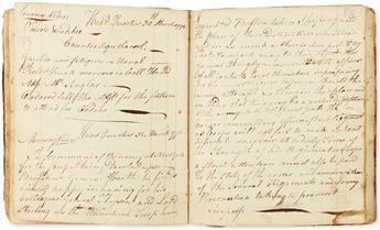(AMERICAN REVOLUTION--1776.) Manuscript orderly book of Capt. John Schenck, working on the New York defenses.
