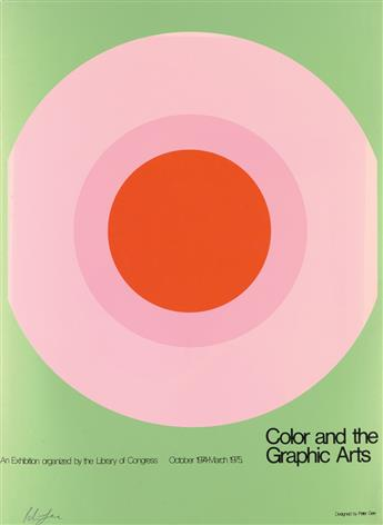 PETER GEE (1932-2005). COLOR AND THE GRAPHIC ARTS. 1974. 29x22 inches, 75x56 cm.