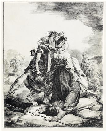 THÉODORE GÉRICAULT Mameluck Défendant un Trompette Blessé.