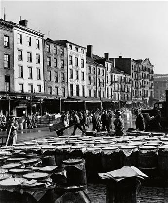 FEININGER, ANDREAS (1906-1999) Fulton Fish Market, Port of New York.