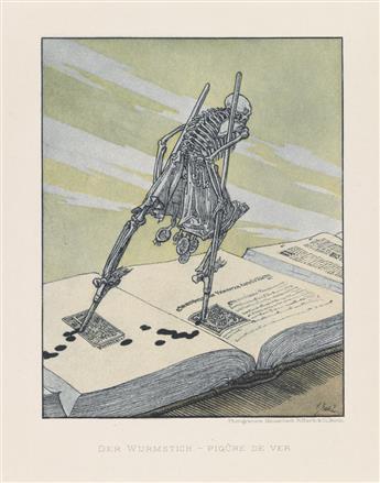 (DANCE OF DEATH.) Sattler, Joseph. Ein moderner Totentanz in 16 Bildern.