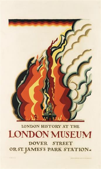 EDWARD MCKNIGHT KAUFFER (1890-1954). LONDON HISTORY AT THE LONDON MUSEUM. 1922. 39x24 inches, 101x61 cm. Vincent Brooks Day & Son Ltd.,