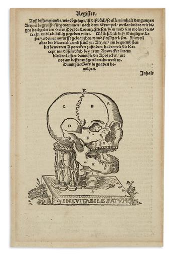 (MORTALITY.) Dryander, Johann (after). Inevitabile Fatum.