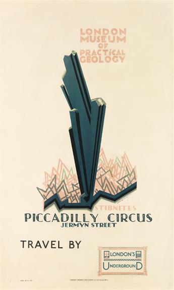 EDWARD MCKNIGHT KAUFFER (1890-1954). LONDON MUSEUM OF PRACTICAL GEOLOGY. 1921. 40x24 inches, 103x61cm. Vincent Brooks Day & Son Ltd., L