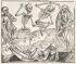 MICHAEL WOLGEMUT (publisher) Imago mortis (Der Totentanz).  Woodcut, 1493.