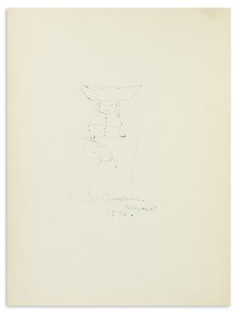 BEMELMANS, LUDWIG. Madeline. Ink drawing Signed and Inscribed, for Judy, on the blank facing the title-page, in green ink,