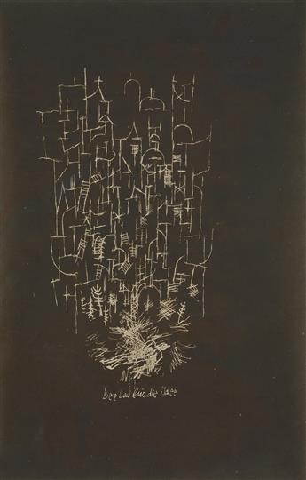 (PAUL KLEE) (1879-1940) Der Tod für die Idee [Death for an Idea].