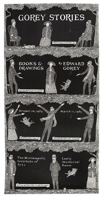 GOREY, EDWARD. Poster. Gorey Stories.