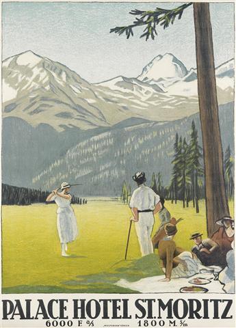 EMIL CARDINAUX (1877-1936). PALACE HOTEL ST. MORITZ. 1922. 50x36 inches, 127x92 cm. Wolfsberg, Zurich.