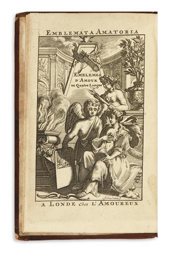 [AYRES, PHILIP.]  Emblemata Amatoria. Emblemes d'Amour en Quatre Langues.  Circa 1700?