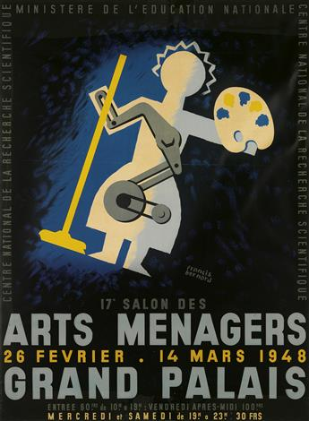 FRANCIS BERNARD (1900-1979). 17E SALON DES ARTS MENAGERS / GRAND PALAIS. 1948. 64x48 inches, 162x122 cm. Bedos & Cie., Paris.