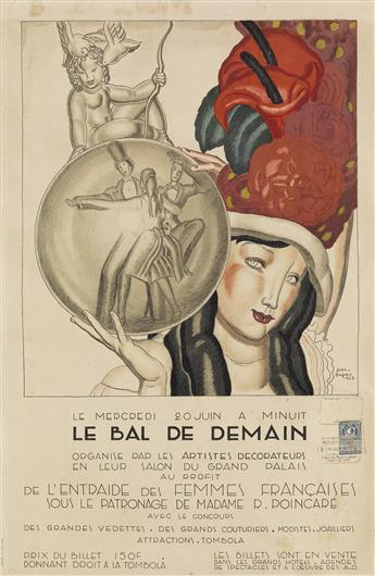 JEAN DUPAS (1882-1964). LE BAL DE DEMAIN. 1928. 23x15 inches, 59x38 cm. H. Chachoin, Paris.