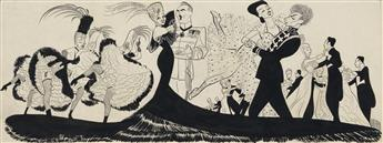 AL HIRSCHFELD. (THEATER / BROADWAY) The Merry Widow.