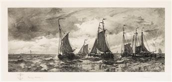 THOMAS MORAN (after Chase) Coming to Anchor