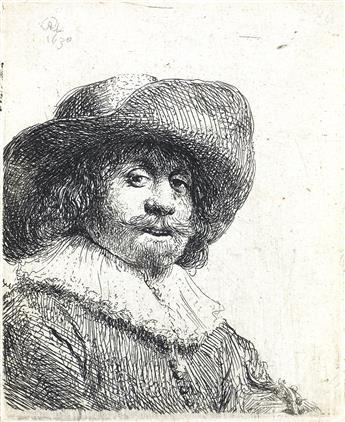 REMBRANDT VAN RIJN Man in a Broad-brimmed Hat.