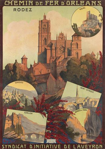 VARIOUS ARTISTS. [FRENCH TRAVEL.] Group of 6 posters. Sizes vary.