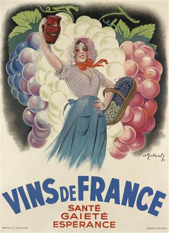 VARIOUS ARTISTS. [FRENCH WINES.] Group of 3 posters. Sizes vary.