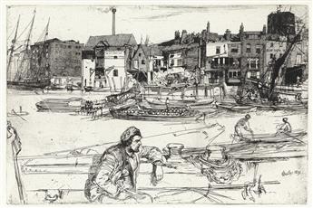 JAMES A. M. WHISTLER Black Lion Wharf.