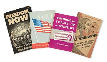 (CIVIL RIGHTS.) NAACP, URBAN LEAGUE, COMMUNIST PARTY ET AL. Group of 65 pamphlets dealing with civil rights.