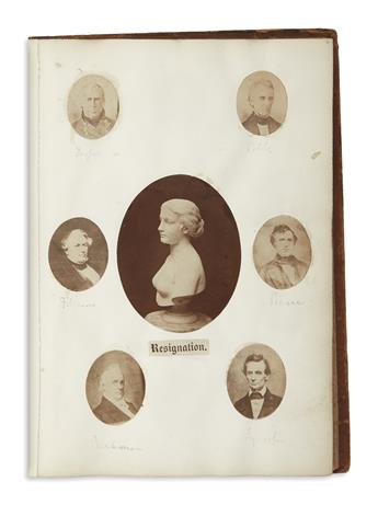 (PHOTOGRAPHY.) Album of artfully arranged photographs compiled early in the war.