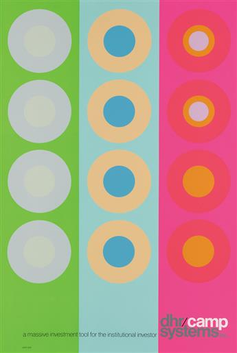 PETER GEE (1932-2005). DHR / CAMP SYSTEMS INC. 40x36 inches, 101x93 cm.