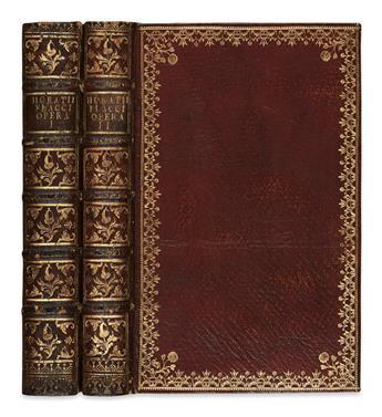 HORATIUS FLACCUS, QUINTUS. Opera.  2 vols.  1733-37