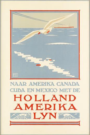 LOUIS C. KALFF (1897-1976). NAAR AMERIKA CANADA CUBA EN MEXICO MET DE / HOLLAND AMERIKA LYN. Circa 1930. 34x23 inches, 87x58 cm. L. Van