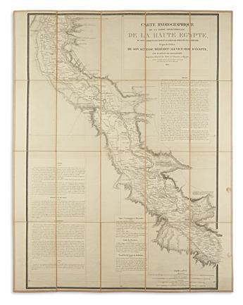 (EGYPT.) Linnant de Bellefonds, Louis Maurice Adolphe. Carte Hydrographique de la Partie Septentrionale de la Haute Egypte.