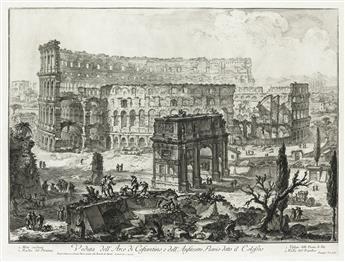 GIOVANNI B. PIRANESI Veduta dellArco di Constantino, e dellAnfiteatro Flavio detto il Colosseo.