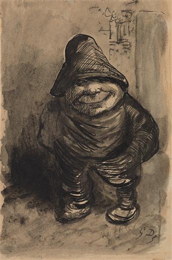 GUSTAVE DORÉ (Strasbourg 1832-1883 Paris) Study of a Stout Peasant Wearing a Cap.