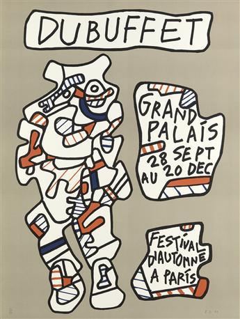JEAN DUBUFFET Affiche (Grand Palais, Festival dAutomne à Paris).
