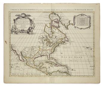 DE LISLE, GUILLAUME, after. LAmerique Septentrionale Dressee sur les Observations de Mrs. de lAcademie Royale des Sciences.
