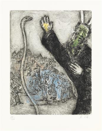MARC CHAGALL Moïse et le Serpent.