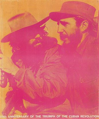 VARIOUS ARTISTS. [FIDEL CASTRO / CUBAN REVOLUTION.] Group of 3 posters. Circa 1970s. Sizes vary.