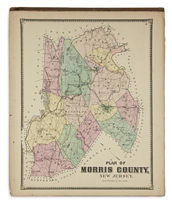 (NEW JERSEY.) Beers, F.W. Atlas of Morris Co., New Jersey.