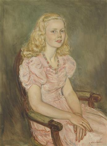 ELIASZ KANAREK Portrait of a Dorothea Vogel.