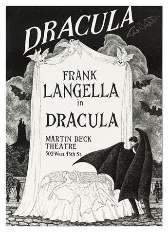 GOREY, EDWARD. Poster. Frank Langella in Dracula.