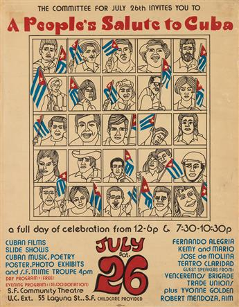 VARIOUS ARTISTS. [CUBA.] Group of 3 posters. Sizes vary.
