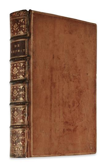 HELVÉTIUS, CLAUDE-ADRIEN.  De lEsprit.  1758