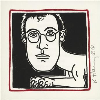 KEITH HARING Self Portrait (Invitation to Palladium Dinner).