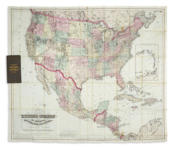 COLTON, G.W. & C.B. Coltons Map of the United States of America, the British Provinces, Mexico and the West Indies.