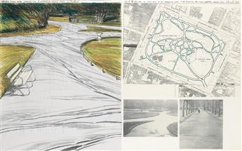 CHRISTO Wrapped Walk Ways, Project for Stephens Green Par, Dublin.