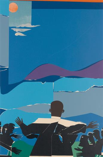 ROMARE BEARDEN (1911 - 1988) Martin Luther King, Jr. - Mountain Top.