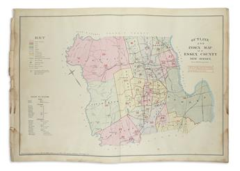 (NEW JERSEY.) Robinson, E. Atlas of Essex County, New Jersey.