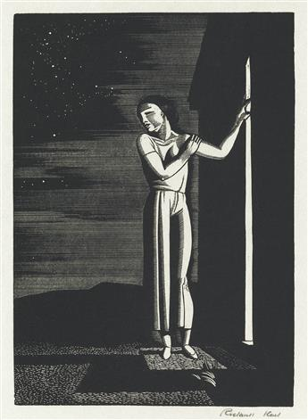 ROCKWELL KENT Starry Night.